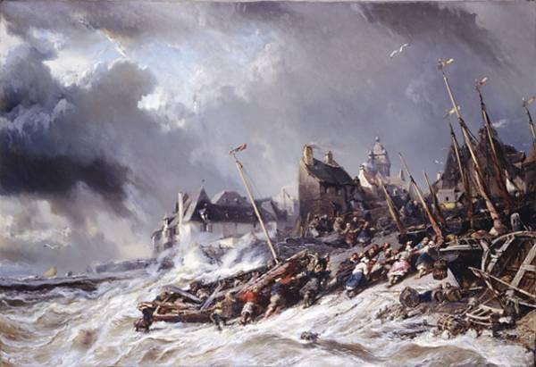 Isabey Hurricane before Saint Malo